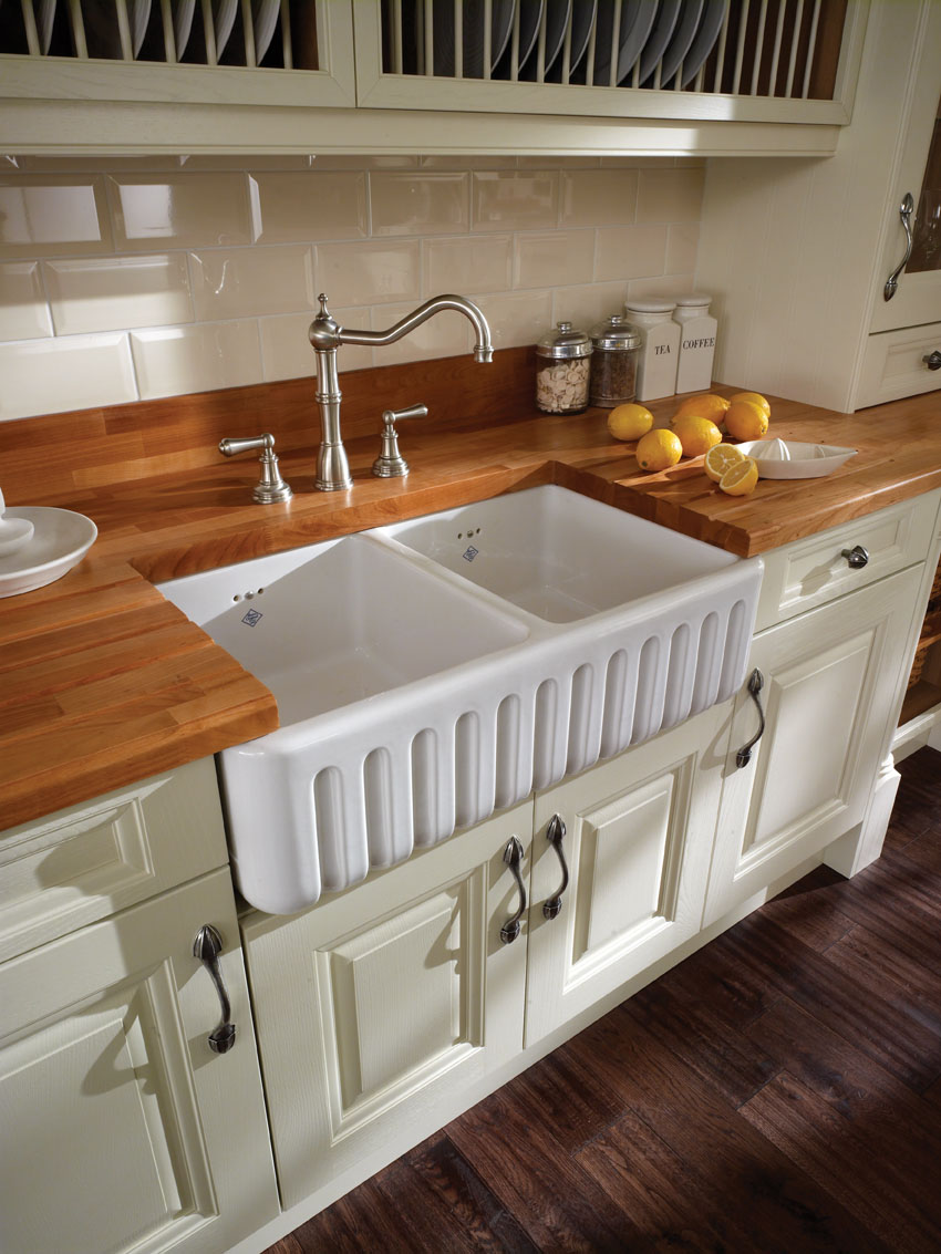 Ribchester Double Bowl Ceramic Sink 800mm